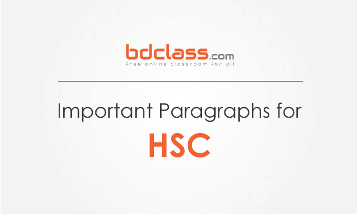 Most Important Paragraphs for HSC 2021 All Boards (100%)